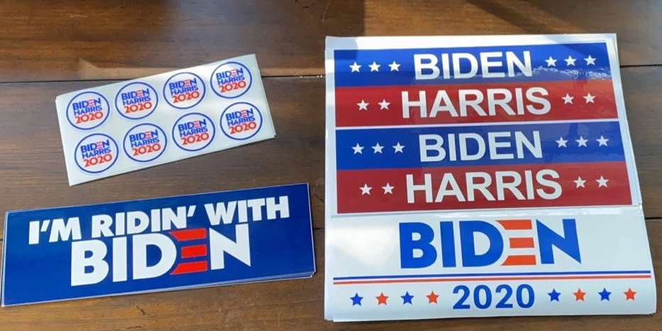 Biden Harris Bumper Stickers and Stickers
