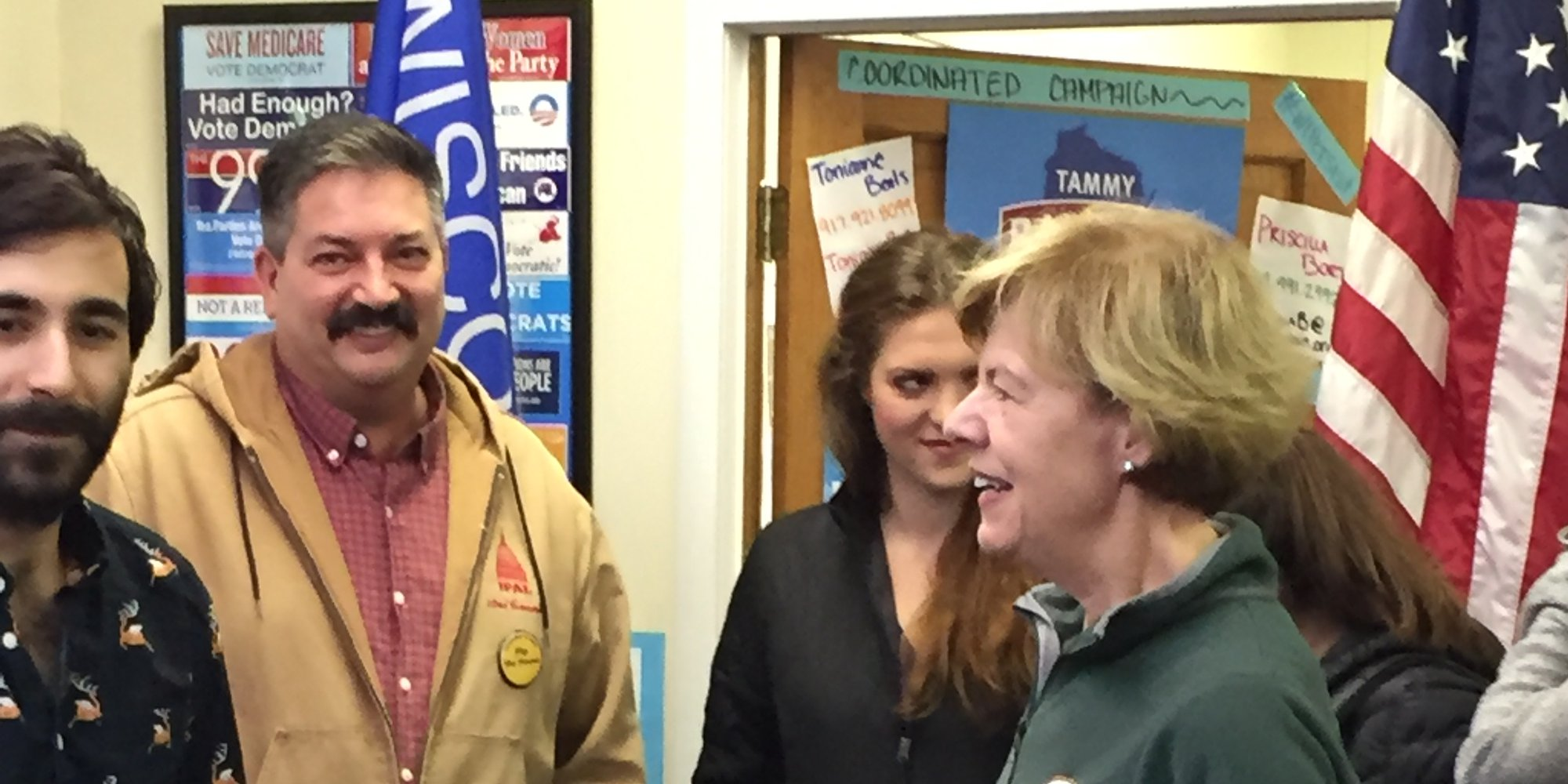 Tammy Baldwin at KCDP office