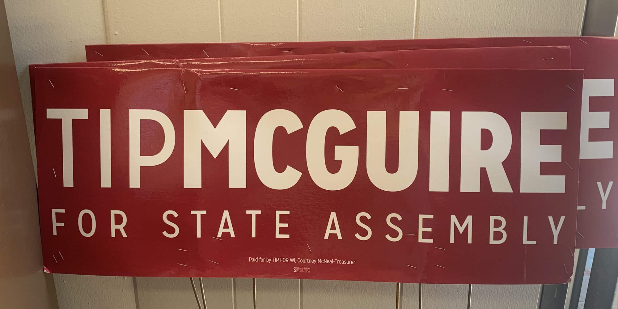 Tip McGuire Yard Signs
