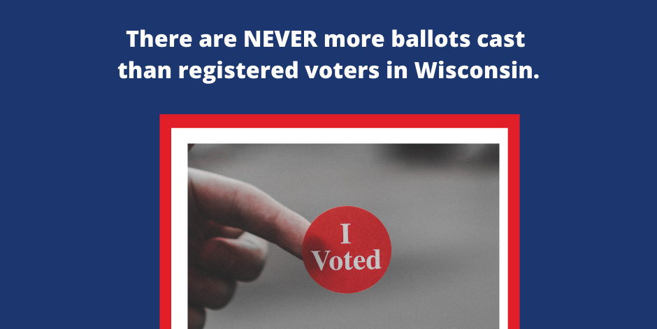 FALSE: more people voted than were registered in Wisconsin