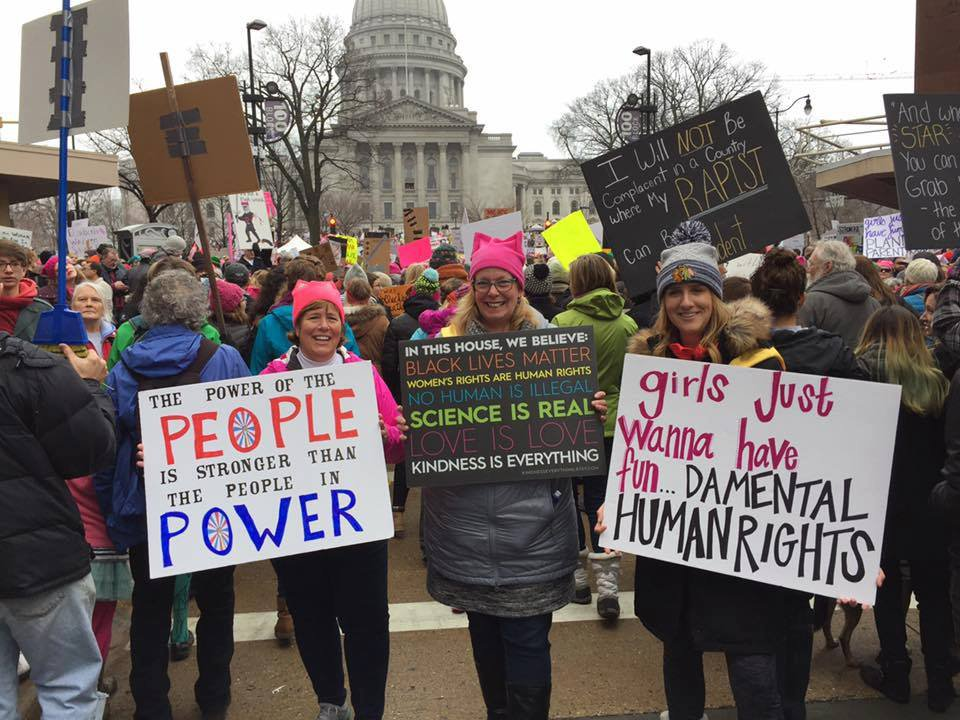 Women's March in Madison participants
