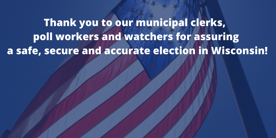Thank you to Wisconsin election workers